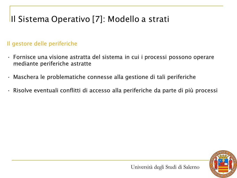 Il Sistema Operativo [7]: Modello a strati